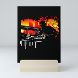 Scratching Hits Mini Art Print