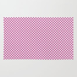 Super Pink and White Polka Dots Rug