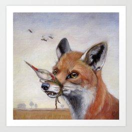 Dead Air (Fox) Art Print