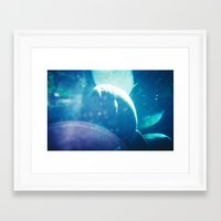 manatee Framed Art Prints featuring Manatee by Emily