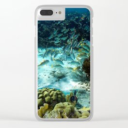 Undersea Community Clear iPhone Case