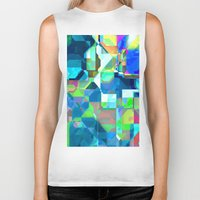 70s Biker Tanks featuring Back in the 70s, blue by MehrFarbeimLeben