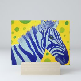 Zippy Blue Mini Art Print