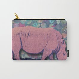 Pink Rhinoceros Collage Carry-All Pouch