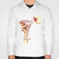champagne Hoodies featuring Champagne  by SR Illustration & Design
