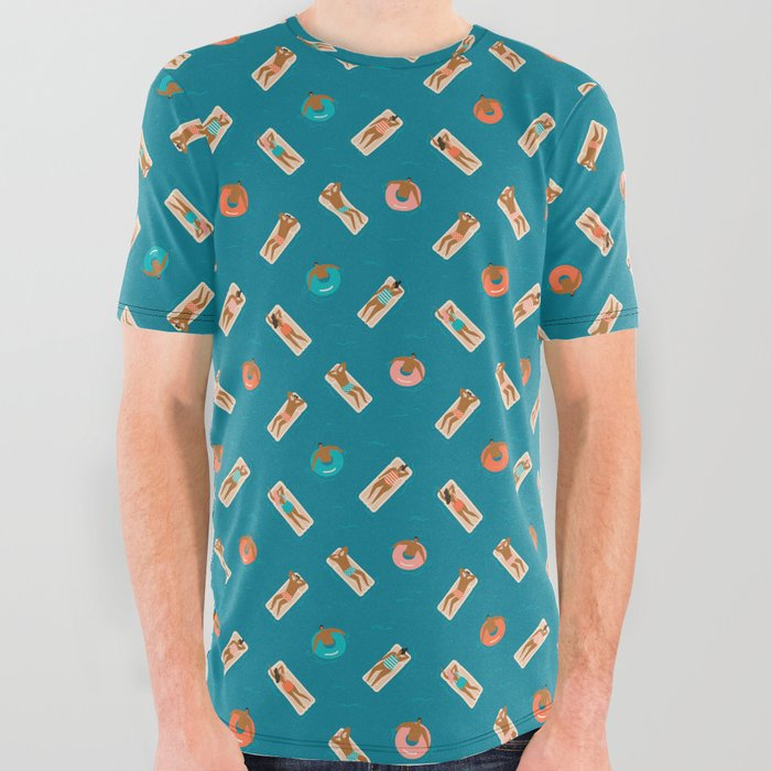 Summertime All Over Graphic Tee