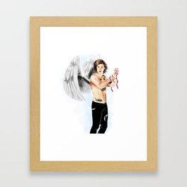 Angel with a shotgun  Framed Art Print