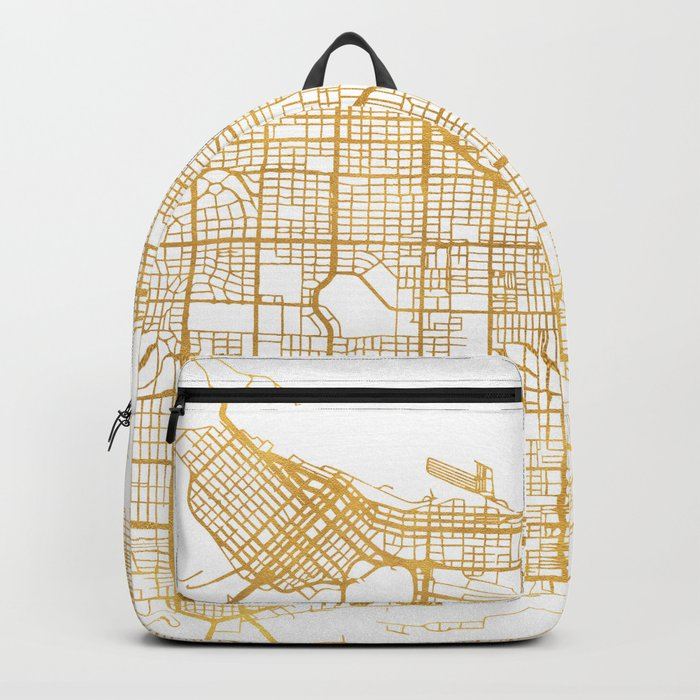 VANCOUVER CANADA CITY STREET MAP ART Backpack
