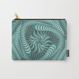 Mint green stripe design Carry-All Pouch