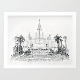 Oakland LDS Temple Art Print