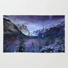 Yosemite in Winter Rug