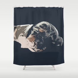 """Kazoozle"" ~ Dachshund, Weiner Dog, Doxie, everywhere!  Shower Curtain"