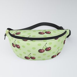 CHERRIES ON MINT GREEN Fanny Pack