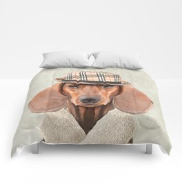 The stylish Mr Dachshund Comforters