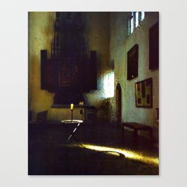 A Candle in the Dark Canvas Print