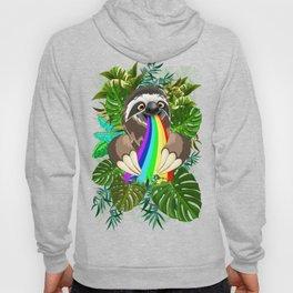 Sloth Spitting Rainbow Colors Hoody