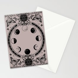 Astrological Moon Phase Magical Witchy  Stationery Cards