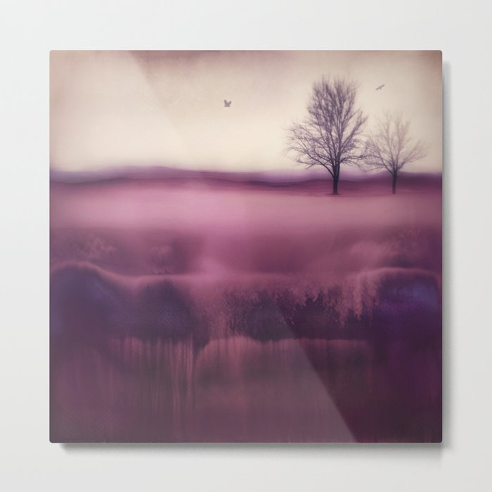 Winter Plum Metal Print