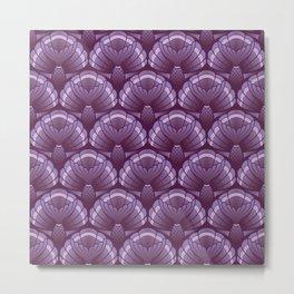 Purple Mermaid Tails Metal Print