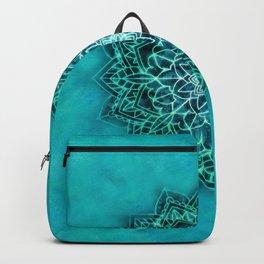 Elegant Turquoise Watercolor Mandala Backpack