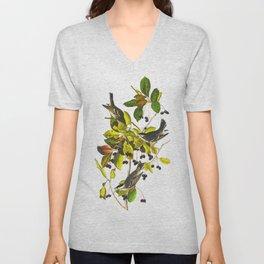 Blackpoll Warbler Bird Unisex V-Neck