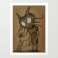 majora Art Prints featuring majora by Vague Parade