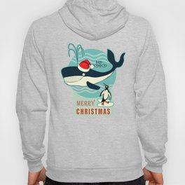 Where is Santa Claus? (background) Hoody