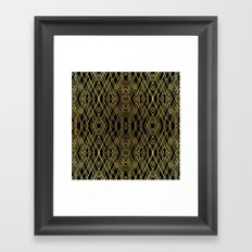 Art Deco Gold Framed Art Print