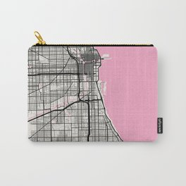 Chicago - Illinois Neapolitan City Map Carry-All Pouch