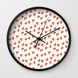 seamless pattern ice cream Wall Clock