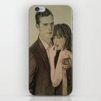 allyson johnson iPhone & iPod Skins featuring JAMIE DORNAN - DAKOTA JOHNSON by Virginieferreux
