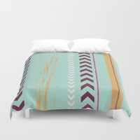 arrow Duvet Covers featuring arrow. by Wooden Wolves