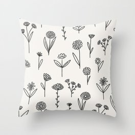 Botanical Sprigs Throw Pillow
