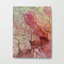 Red Clay Cliffs Metal Print