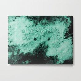 Peek-A-Boo Aqua Metal Print