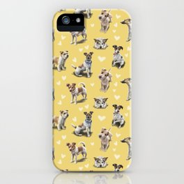The Jack Russell Terrier Yellow iPhone Case