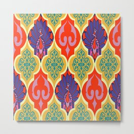 Moroccan Decoration and Peacocks by Lorloves Design Metal Print