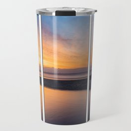 Sunset at the Lighthouse Tryptych Travel Mug