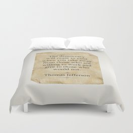 Thomas Jefferson Quote Duvet Cover