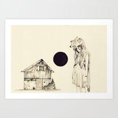 Mujer Loba Art Print