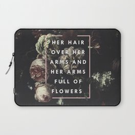 Arms Full Of Flowers Laptop Sleeve