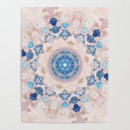 Cream Rose Mandala Poster