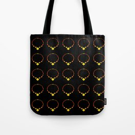 Beautiful Luminous Necklace Pattern on Black Illustration Tote Bag