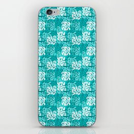 Swanky Mo Teal iPhone Skin