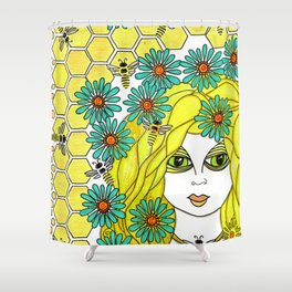 The Bee Keeper Shower Curtain