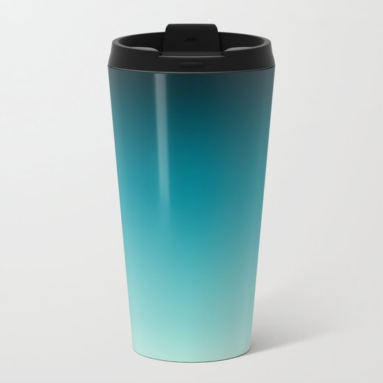Ombre gradient digital illustration navy colors Metal Travel Mug