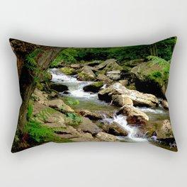 Ferns and Gnarled Tree - Little Stony Creek Rectangular Pillow