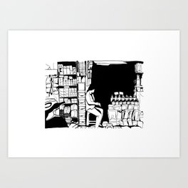 Grocery store in Hanoï Art Print