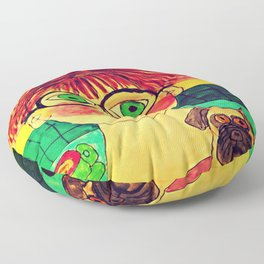 """""""Tallulah and Georgia's Happy Place"""" Floor Pillow"""