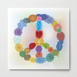 Peace Sign In Colors Metal Print